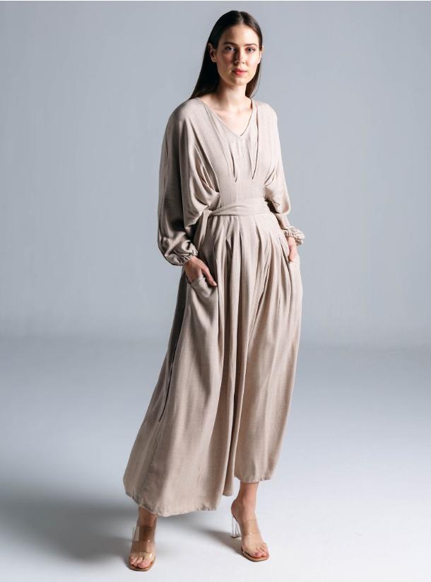 Nude Beige Abaya - Heracloset Online